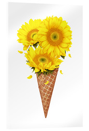 Acrylic print  Ice cream with sunflowers - Valeriya Korenkova