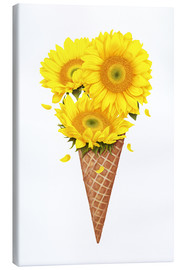 Canvas print  Ice cream with sunflowers - Valeriya Korenkova