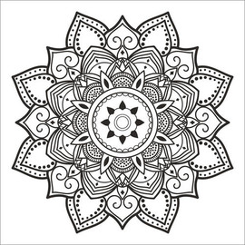 Colouring poster  Mandala
