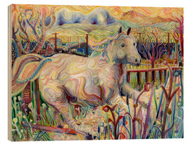 Wood print  My Soul is an Escaped Horse - Josh Byer