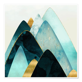 Premium poster Gold and Blue Hills