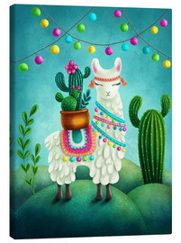 Canvas print  Happy LLama - Elena Schweitzer