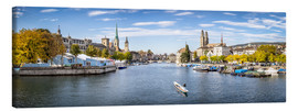 Canvas  Zurich panorama cityscape - Jan Christopher Becke