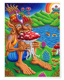 Premium poster  Muncher Of Mushroomland - Chris Dyer