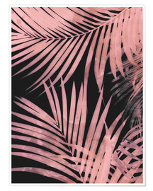 Premium poster Delicate palm leaves
