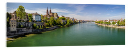 Acrylic print  Panorama Basel old town on the Rhine (Switzerland) - Christian Müringer