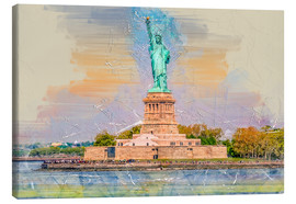 Canvas print  New York Statue of Liberty - Peter Roder