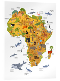 Acrylic print  African animals - Kidz Collection