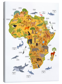 Canvas print  African animals - Kidz Collection