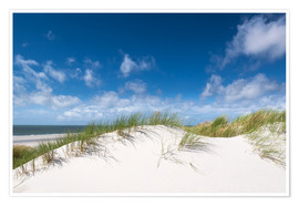 Premium poster  Dunes in the summer wind - Reiner Würz