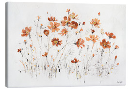 Canvas  Wildflowers I orange - Lisa Audit