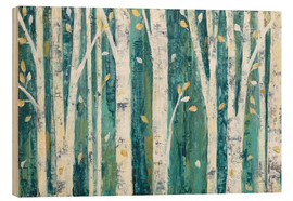 Wood print  Birches in Spring - Julia Purinton