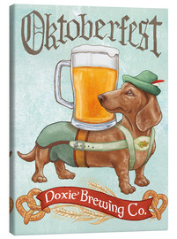 Canvas  Beer Dogs III Oktoberfest - Mary Urban