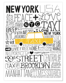 Premium poster  Typically NYC III - Michael Mullan