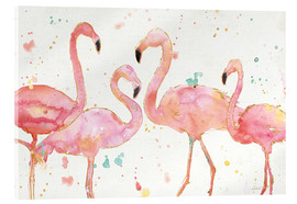 Acrylic glass  Flamingo fever I - Anne Tavoletti