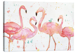 Canvas print  Flamingo fever I - Anne Tavoletti