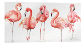 Acrylic print  Pink flamingos VIII - Lisa Audit