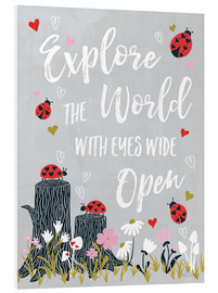 Foam board print  Ladybug adventure - Laura Marshall