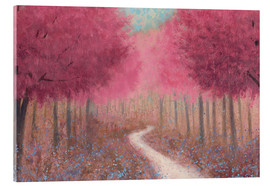 Acrylic print  Forest path in spring - James Wiens