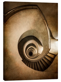 Canvas  Spiral staircase in brown colors - Jaroslaw Blaminsky