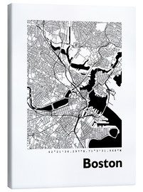 Canvas print  City Map of Boston - 44spaces