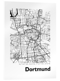 Acrylic glass  City map of Dortmund - 44spaces