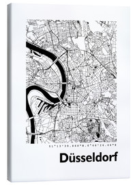 Canvas  City map of Dusseldorf - 44spaces