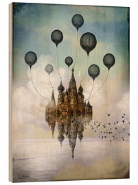 Wood print  Travel to the East - Catrin Welz-Stein