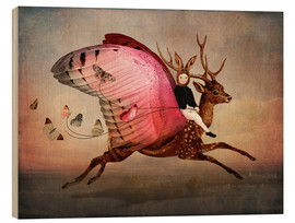 Wood print  Enjoy the ride - Catrin Welz-Stein