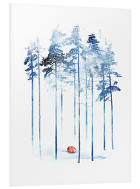 Foam board print  Sleeping in the woods - Robert Farkas