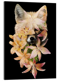 Acrylic print  Fox and lilies - Robert Farkas