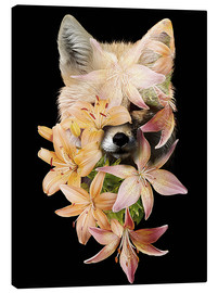 Canvas print  Fox and lilies - Robert Farkas