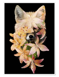 Premium poster  Fox and lilies - Robert Farkas