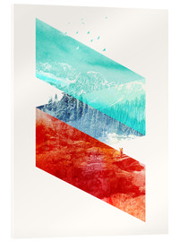 Acrylic print  Mountain Stripes - Robert Farkas