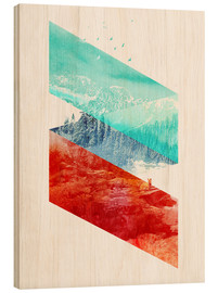 Wood print  Mountain Stripes - Robert Farkas