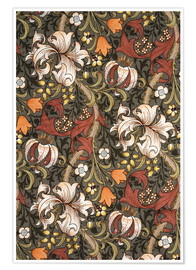 Poster  Golden Lily - William Morris
