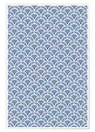 Premium poster Fish scales pattern in blue