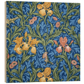 Wood print  Iris - William Morris