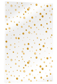 Acrylic print  golden polka dot pattern