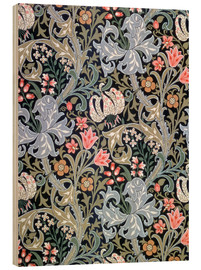 Wood print  Golden Lily - William Morris