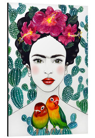 Alu-Dibond  Frida's Lovebirds - Mandy Reinmuth