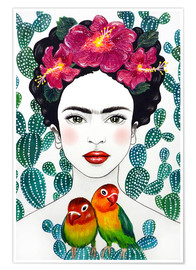 Premium poster Frida's lovebirds