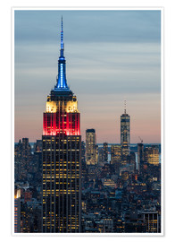 Premium poster Colorful Empire State Building