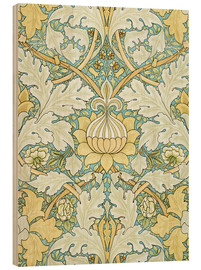 Wood print  Design with flowers - William Morris