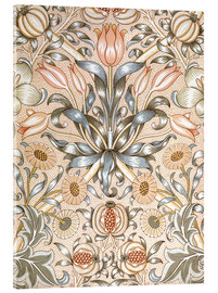 Acrylic print  Lily and Pomegranate - William Morris