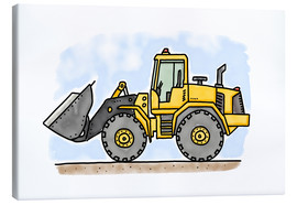 Canvas  Hugos wheel loader - Hugos Illustrations