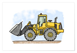 Premium poster  Hugos wheel loader - Hugos Illustrations