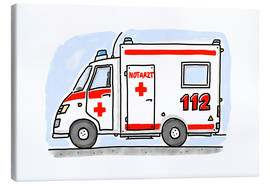 Canvas  Hugos ambulance - Hugos Illustrations