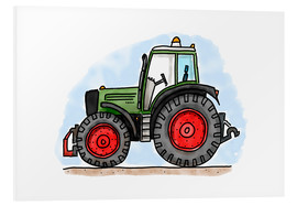 Foam board print  Hugos tractor - Hugos Illustrations