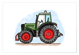 Premium poster  Hugos tractor - Hugos Illustrations